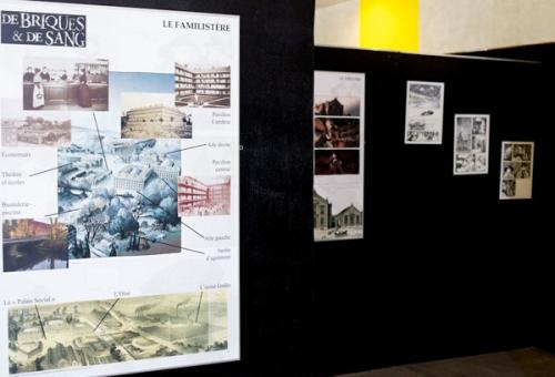 De briques et de sang, une photo de l'exposition sur les Rendez-Vous de la Bande Dessinée d'Amiens 2011