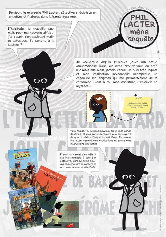 Exposition Phil Lacter, expo interactive bande dessinée et polar