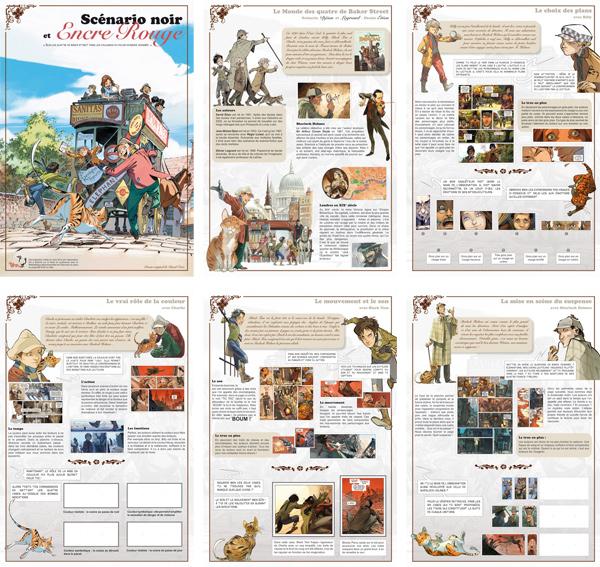 Suis les Quatre de Baker Street dans les coulisses du polar en bande dessinée - Exposition - sélection de panneaux