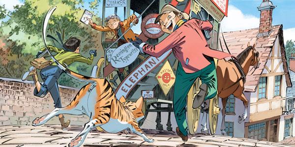 Scénario Noir et Encre Rouge… Suis Les Quatre de Baker Street dans les coulisses du polar en bande dessinée