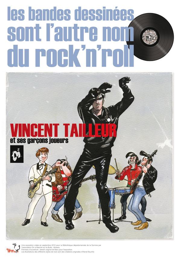 Exposition Les bandes dessinées sont l'autre nom du rock'n'roll